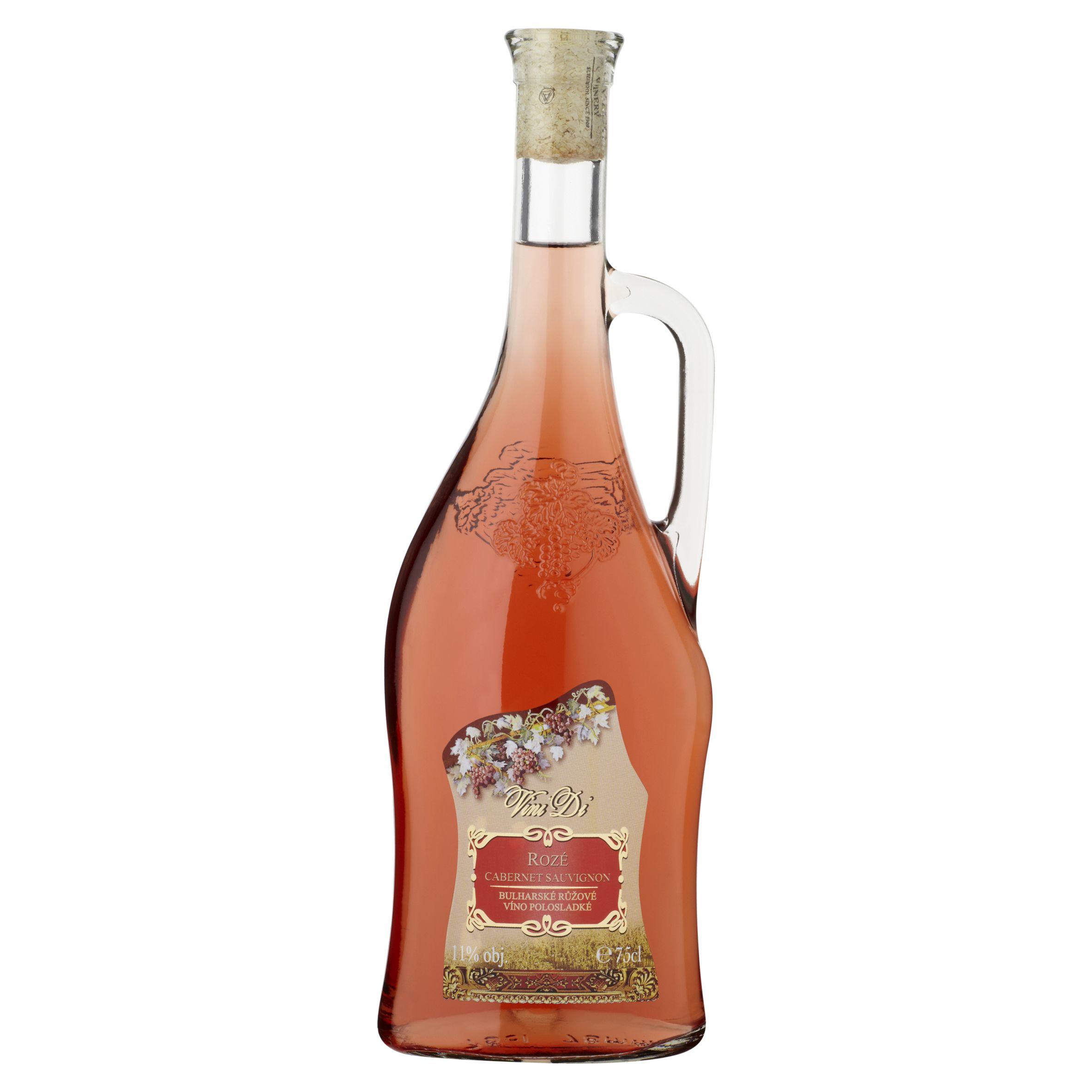 Růžová vína - polosladká